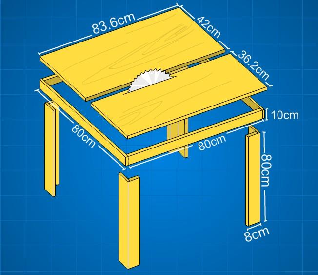 design table saw buatan