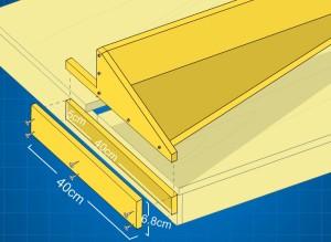 design rel fence meja potong