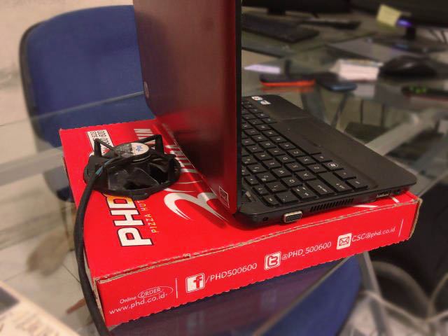 laptop cooler gratis pizza hut