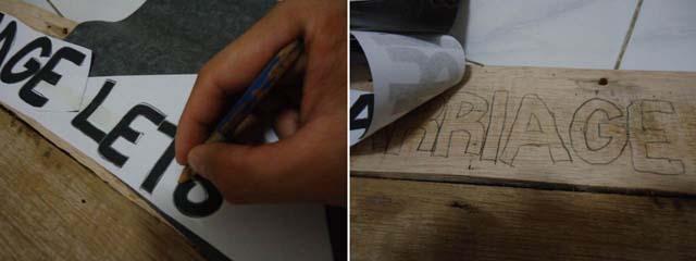 teknik menyablon tulisan ke media kayu