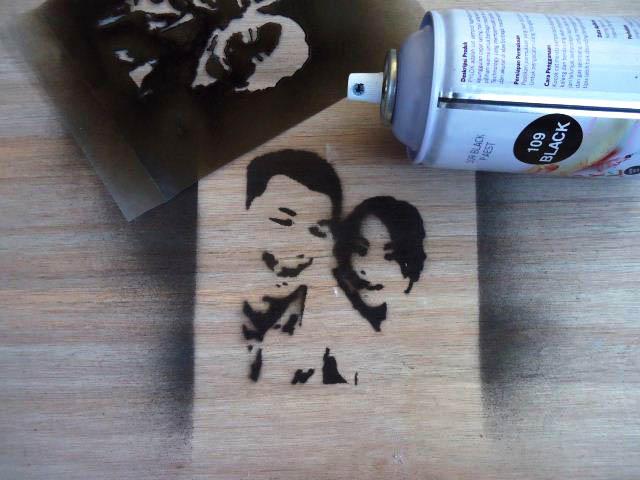 membuat stencil dari foto kita