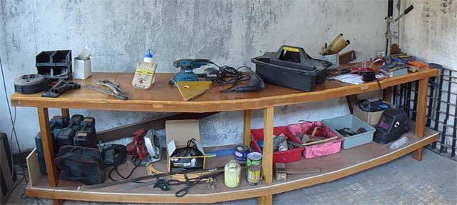 cara membuat meja workshop atau meja kerja