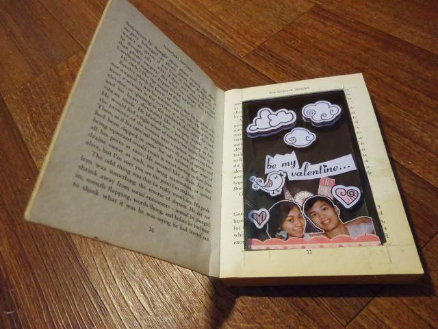 Scrap book dari buku bekas (hadiah valentine)