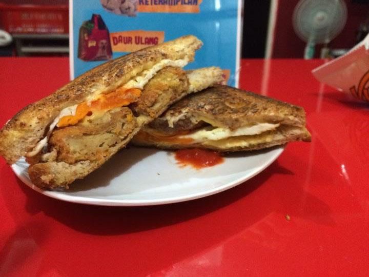 roti sandwich ala france