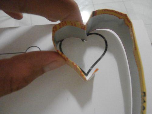 cara membuat cetakan kue hati