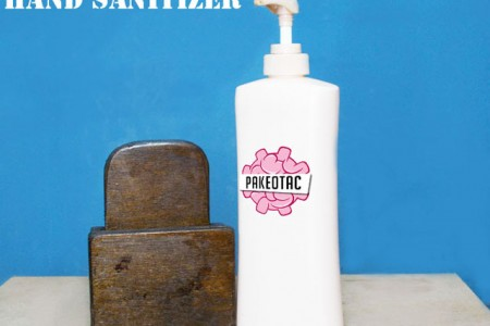 Hand Sanitizer shelf (recycling)
