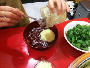 pasta cabe kimchi