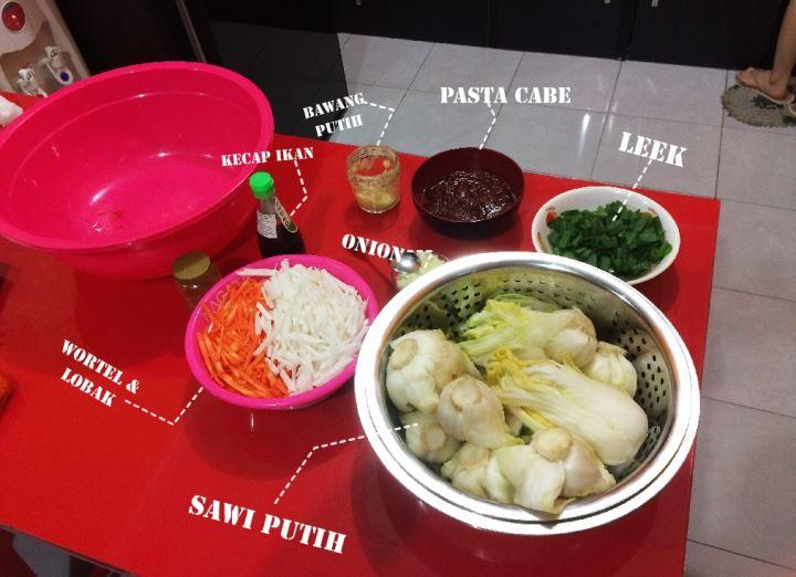 bahan membuat kimchi