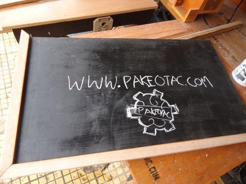 cara membuat sendiri papan tulis kapur pakaiotak