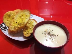 cara membuat roti garlic
