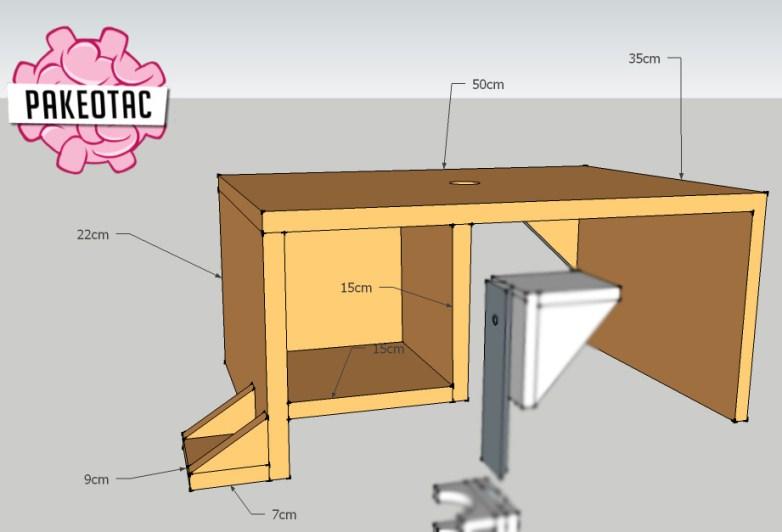 gambar perencanaan membuat meja trimmer/router