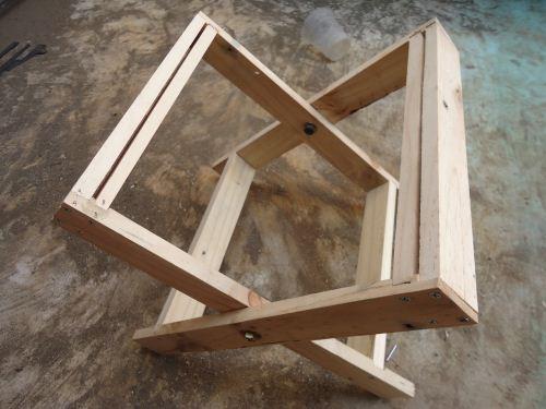 cara membuat kursi lipat kayu