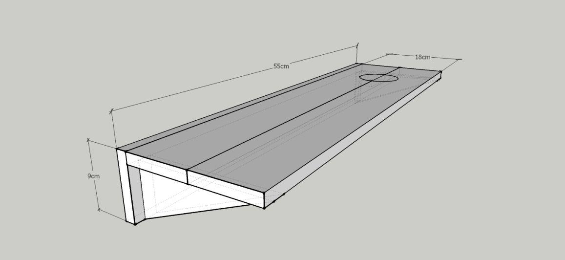 design rak wastafel sederhana