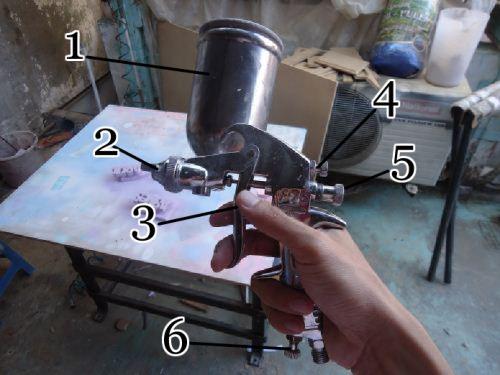 bagian-bagian spray gun