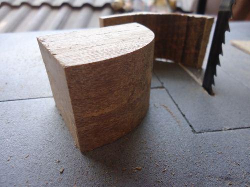 Hasil potongan mesin bandsaw