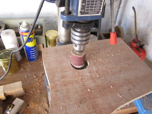 membuat spindle sander