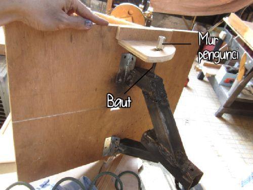 Cara membuat meja bandsaw 0-90 derajat