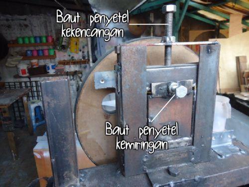 penyetel roda bandsaw