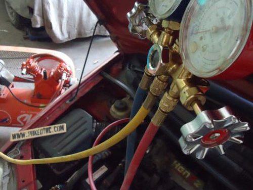 Vacuum a/c dengan kompresor udara