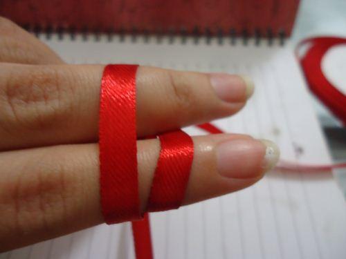 pita double bow langkah 2