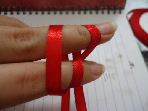 pita double bow langkah 3