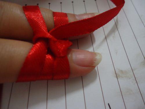 pita double bow langkah 6