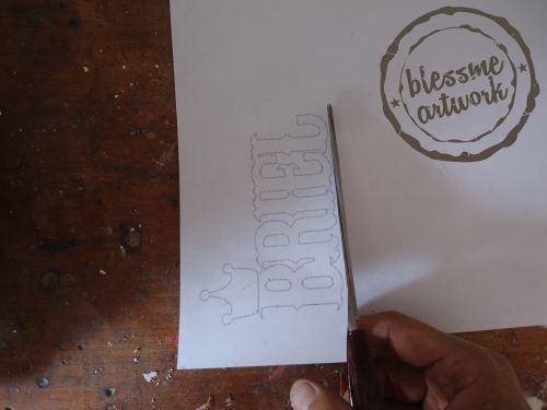 trik membuat huruf kayu