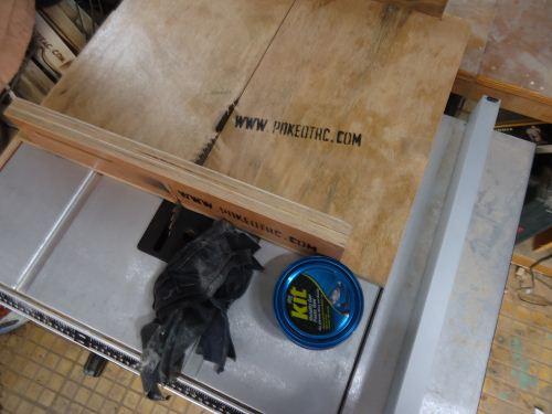table saw sled yang bisa diatur