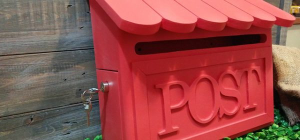Custom homemade red post box