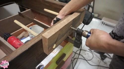 buat ragum meja menggunakan clamp F