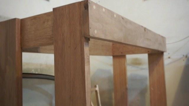 meja kayu mesin bubut