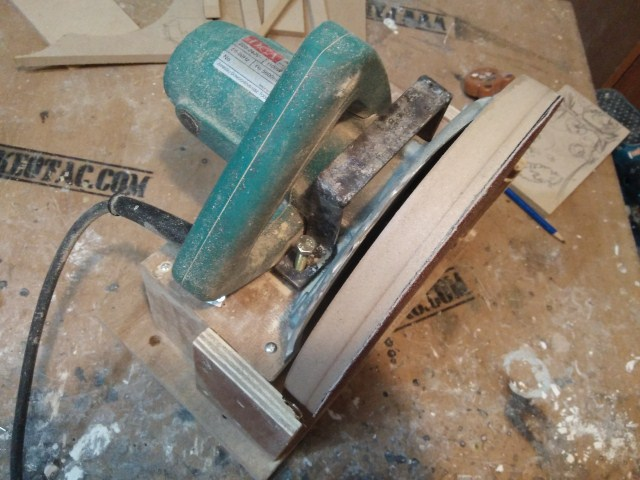 how to make disc sander out of circular saw