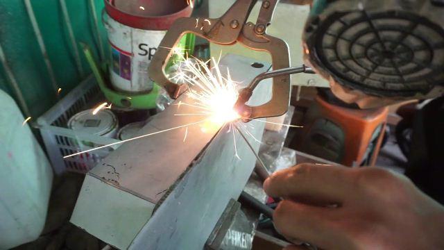 weld steel box using oxy acy