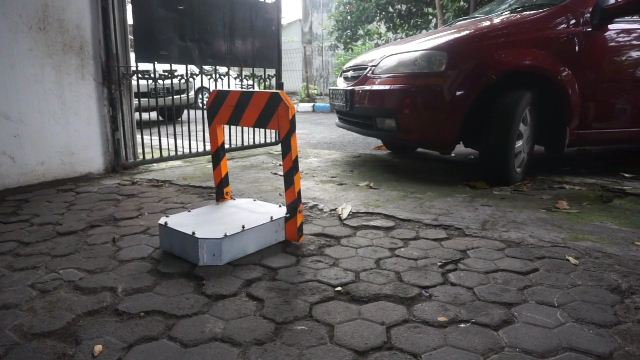 homemade parking gate automatic