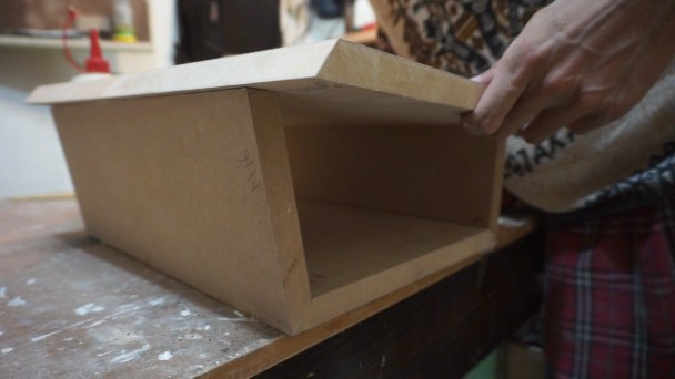 process of assembling bedside table