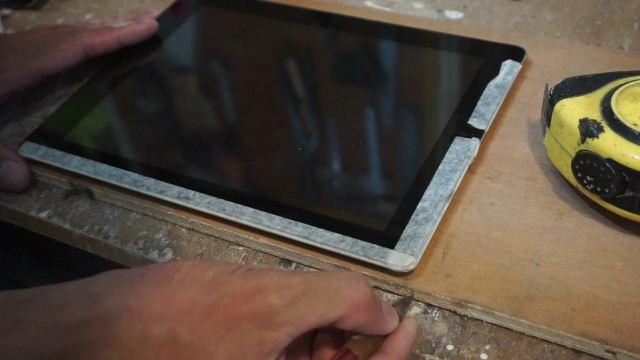 cara membuat case tablet kayu