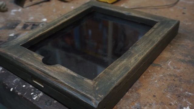 Membuat case tablet kayu