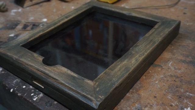 Membuat case tablet kayu