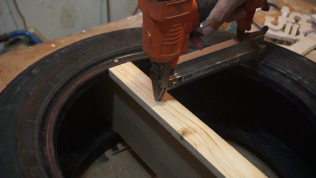 DIY old tyre