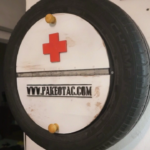 First aid storage from old tyre