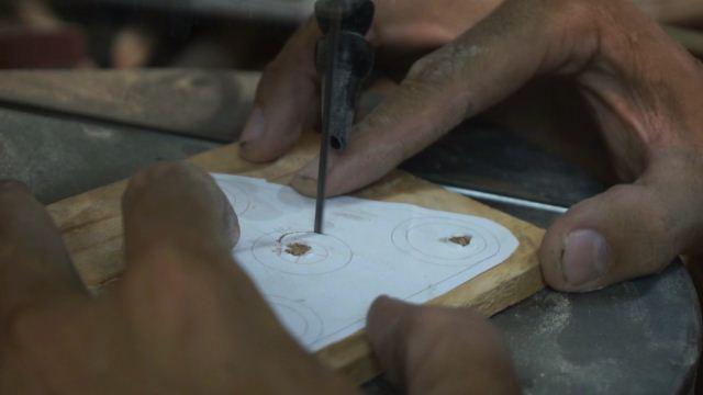 DIY wooden fidget spinner