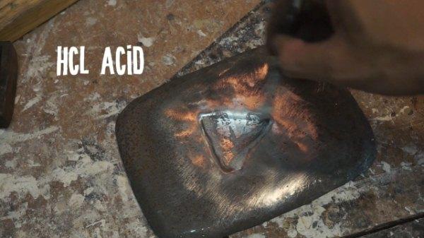 Cara membuat besi karat