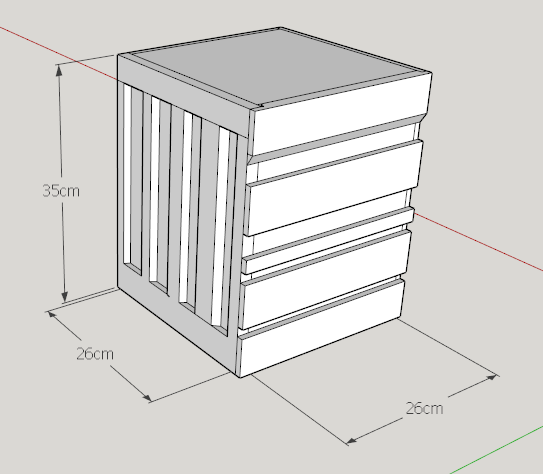 desain container box kayu
