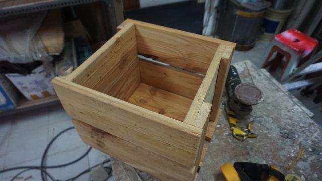 Membuat box planter kayu pinus