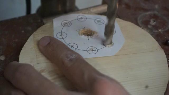 cara membuat knob baut dari kayu