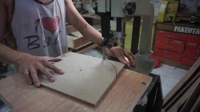 membuat lingkaran menggunakan bandsaw